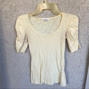 'Love Culture' light yellow top